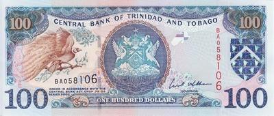 100 долларов 2002 Тринидад и Тобаго.