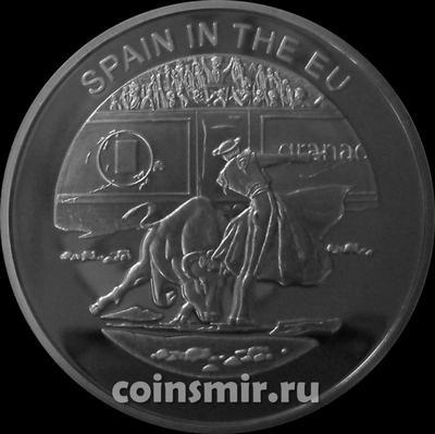 100 лир 2004 Мальтийский орден. Испания в Евросоюзе.