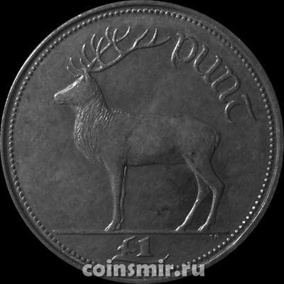 1 фунт 1990 Ирландия. Олень.