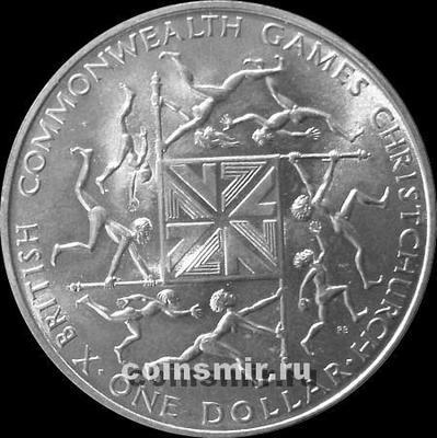 1 доллар 1974 Новая Зеландия.Игры Содружества.