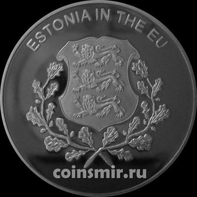 100 лир 2004 Мальтийский орден. Эстония в Евросоюзе.