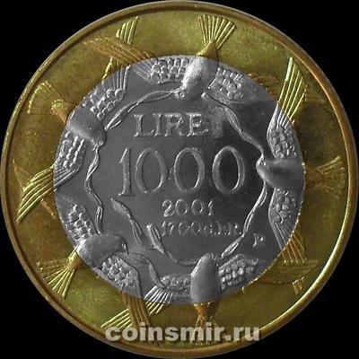1000 лир 2001 Сан-Марино.