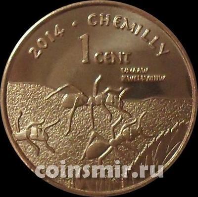 1 цент 2014 резервация Эвиапайп индейцев Кумеяай.