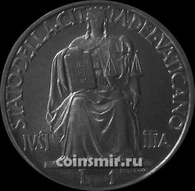 1 лира 1942 Ватикан.
