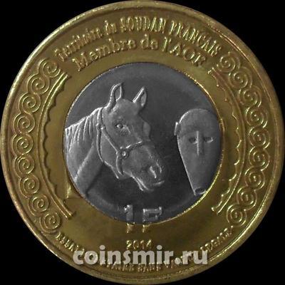1 франк 2014 французский Судан (Мали). Лошадь.