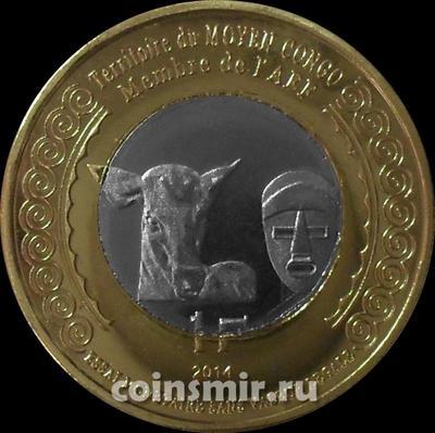 1 франк 2014 Среднее Конго.