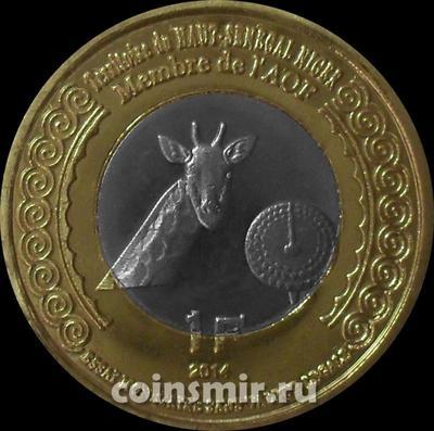 1 франк 2014 Верхний Сенегал и Нигер. Жираф.