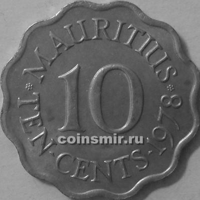 10 центов 1978 Маврикий.