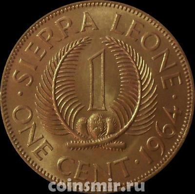 1 цент 1964 Сьерра-Леоне.