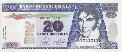 20 кетсалей 2007 Гватемала.