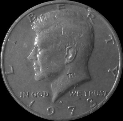 1/2 доллара 1973 D США.