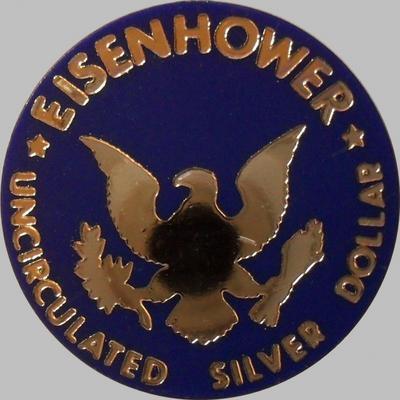 Банковский жетон к серебряному доллару США. Эйзенхауэр.