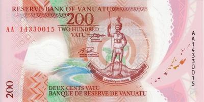 200 вату 2014 Вануату.