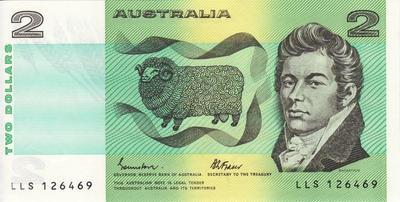 2 доллара 1974-1985 Австралия.