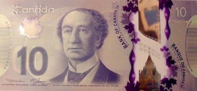 10 долларов 2013 Канада.