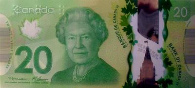 20 долларов 2013 Канада.