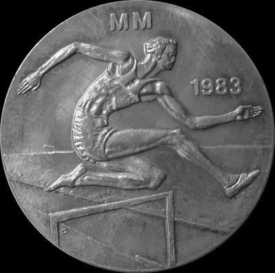 50 марок 1983 Финляндия. 1-ый Чемпионат мира по лёгкой атлетике.