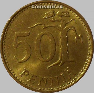 50 пенни 1981 К Финляндия. (в наличии 1982 год)