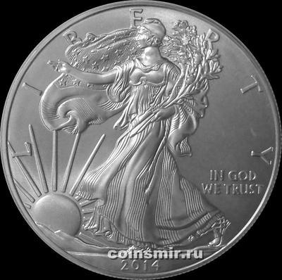 1 доллар 2014 США. Шагающая Свобода.