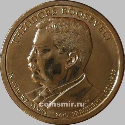 1 доллар 2013 D США. 26-й президент Теодор Рузвельт.