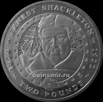 2 фунта 2007 Южная Георгия и Южные Сандвичевы острова. Эрнест Генри Шеклтон.