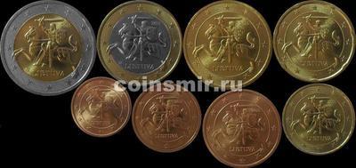 Набор евро монет 2015 Литва.