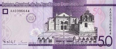 50 песо 2014 Доминиканская республика.