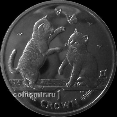 1 крона 2004 остров Мэн. Тонкинская кошка.