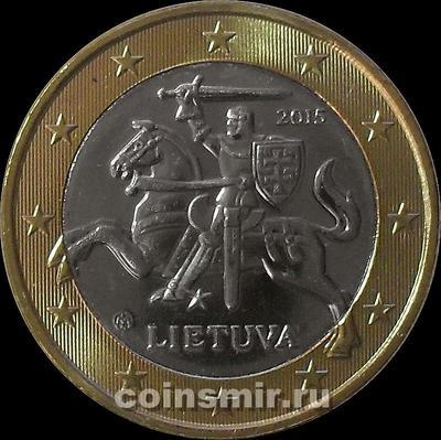 1 евро 2015 Литва.
