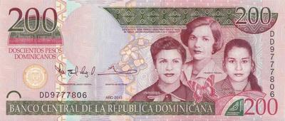 200 песо 2013 Доминиканская республика.