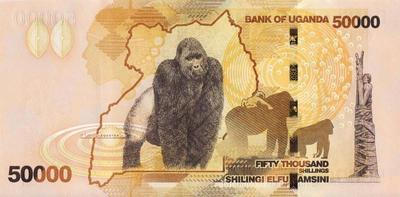 50000 шиллингов 2013 Уганда.