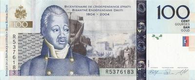 100 гурдов 2010 Гаити. 200 лет независимости Гаити.