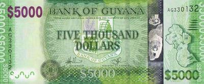 5000 долларов 2014 Гайана.