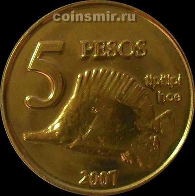 5 песо 2007 остров Пасхи.