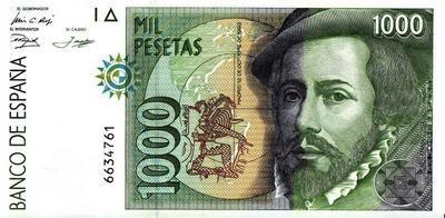 1000 песет 1992 (1996)  Испания.