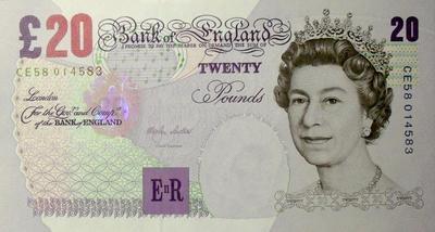 20 фунтов 1999-2006 Великобритания.