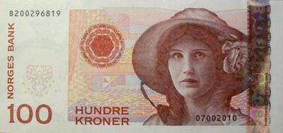 100 крон 2003-2010 Норвегия.