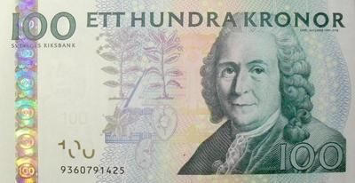 100 крон 2001-2010 Швеция.