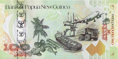 100 кин 2008 Папуа-Новая Гвинея.  35 лет Банку.