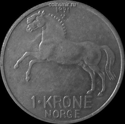 1 крона 1971 Норвегия.