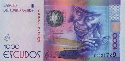 1000 эскудо 2014 Кабо-Верде.