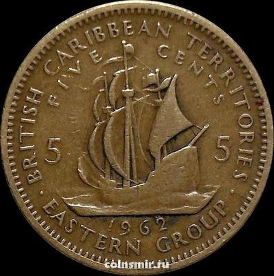 5 центов 1962 Британские Карибские территории.