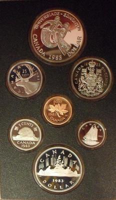 Набор из 7 монет 1983 Канада. Годовой.