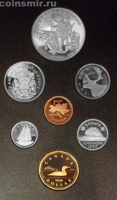 Набор из 7 монет 1990 Канада. Годовой.
