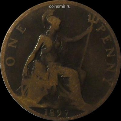 1 пенни 1897 Великобритания.