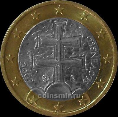 1 евро 2009 Словакия.
