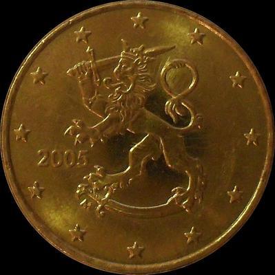 50 евроцентов 2005 М Финляндия.