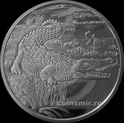 1 доллар 2005 Сьерра-Леоне. Крокодил.