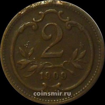 2 геллера 1909 Австрия.