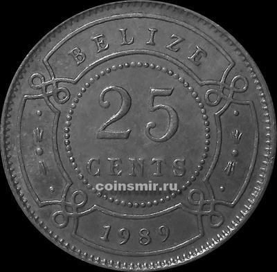 25 центов 1989 Белиз.